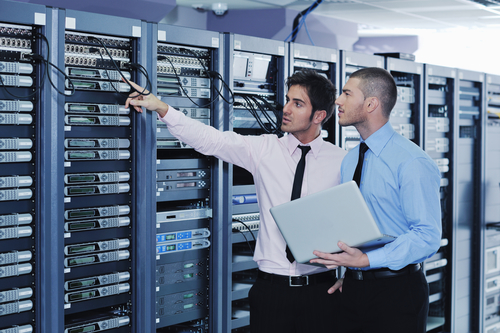 IT Engineers in Data Server Room - Generator Service Orange County